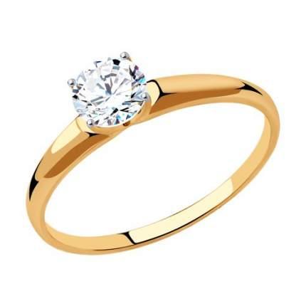 Кольцо женское SOKOLOV из золота со Swarovski Zirconia 81010438 р.17.5