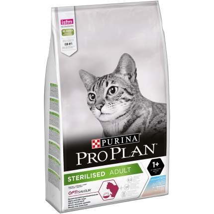 Сухой корм для кошек PRO PLAN Sterilised Adult, для стерилизованных, треска и форель, 10кг