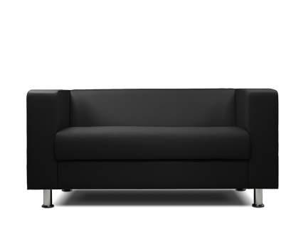 Диван офисный двухместный Шарм-Дизайн Бит-2х чёрный
