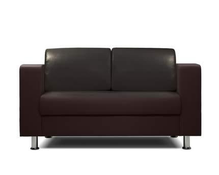 Диван офисный двухместный Шарм-Дизайн Бит-2х коричневый