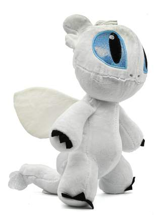 Супер мягкая игрушка Беззубик дракон-фурия высота- 28см CoolToys IM280white