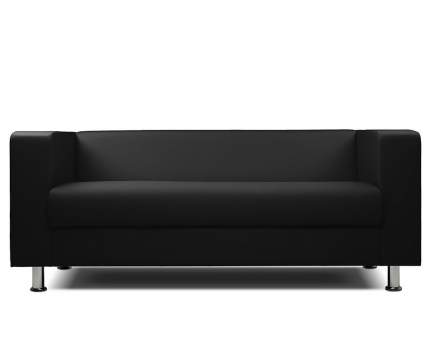 Диван офисный Шарм-Дизайн 3-х местный БИТ экокожа чёрный