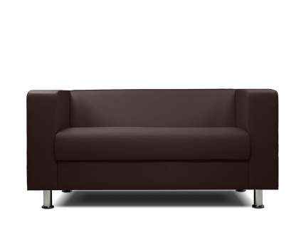 Диван офисный Шарм-Дизайн БИТ экокожа коричневый