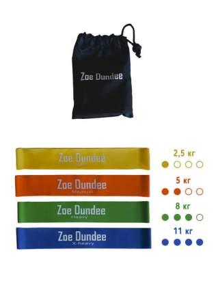 Набор эспандеров Zoe Dundee RB1977 желтый/оранжевый/зеленый/синий, 4 шт.
