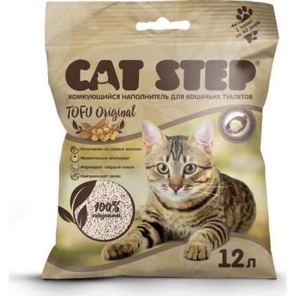 Комкующийся наполнитель для кошек Cat Step Tofu соевый, 5.4 кг, 12 л