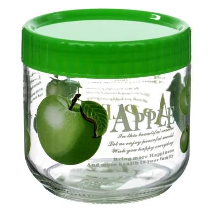 Банка для сыпучих Le Ying Фрукты и ягоды зеленая 750 мл