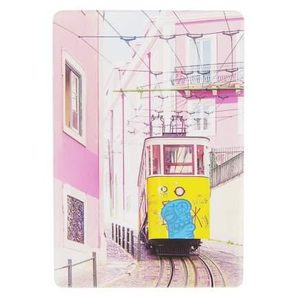 Обложка для проездного Kawaii Factory KW065 Трамвай розовая