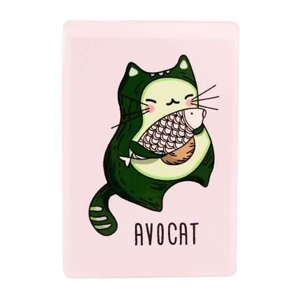 Обложка для проездного Kawaii Factory KW065 Avocat розовая