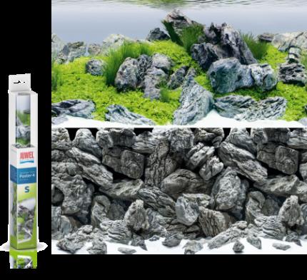 Фон для аквариума Juwel Poster 4 S, акваскейпинг/камни, винил, 60x30 см