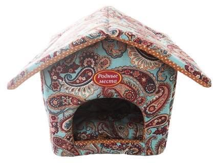 Домик для кошек и собак Родные места Теремок №1 Золотой огурец, 32x33x36см