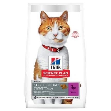 Сухой корм для кошек Hill's Повседневное питание, утка,  1.53кг