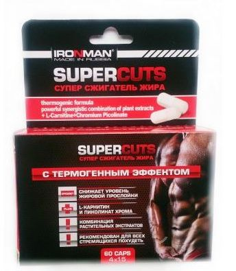 Жиросжигатель Ironman Super Cuts 60 капсул