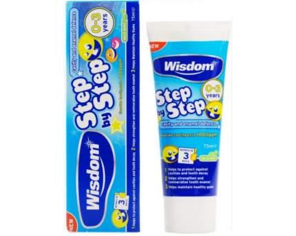 Зубная паста детская Wisdom Step by Step 0-3 лет