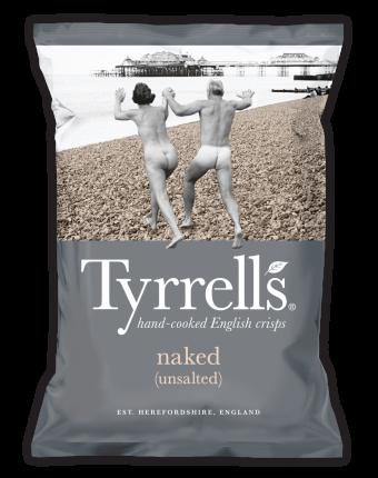 Чипсы картофельные TYRRELLS  натуральные без соли 150г