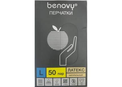 Перчатки медицинские Benovy MME-LPS-NT-004/L/латекс 50 пар