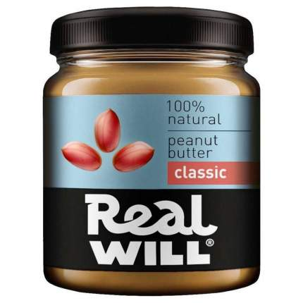 Паста арахисовая Real Will классическая 330 г