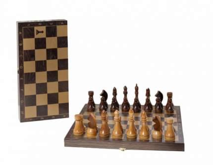 Шахматы гроссмейстерские деревянные с венге доской, золото 196-18