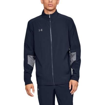 Куртка Under Armour Charger Warm Up Woven Full Zip, 410 синяя, XLT