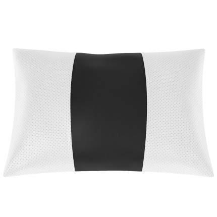 Подушка автомобильная AVTOLIDER1 Экокожа белый-чёрный