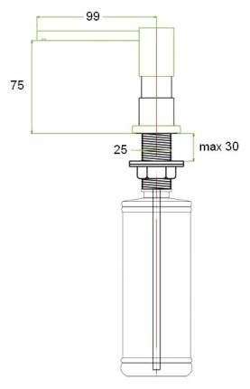 Дозатор Zorg ZR-22 бронза