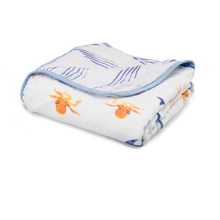 Муслиновое одеяло Qwhimsy Океан QBL001, 112х112 см