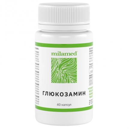 Глюкозамин Milamed капсулы 40 шт.