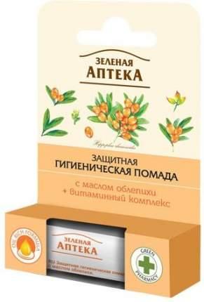 Защитная гигиеническая помада Зеленая аптека с маслом облепихи, 3,6 г