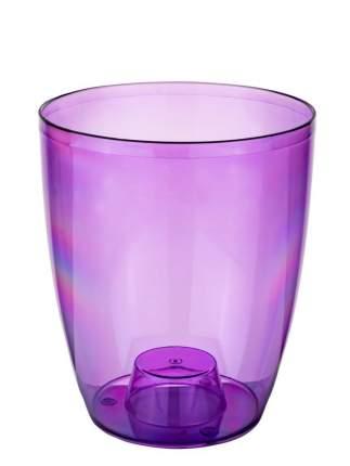 Кашпо ElfPlast для орхидей №3, прозрачно-фиолетовый, 2.2 л