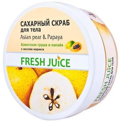 Сахарный скраб для тела Asian Pear & Papaya Fresh Juice, 225 мл