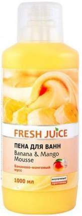 Пена для ванн Fresh Juice Banana&Mango mousse 1000 мл