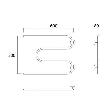 Водяной полотенцесушитель Роснерж М образный с полкой M101100 50x60