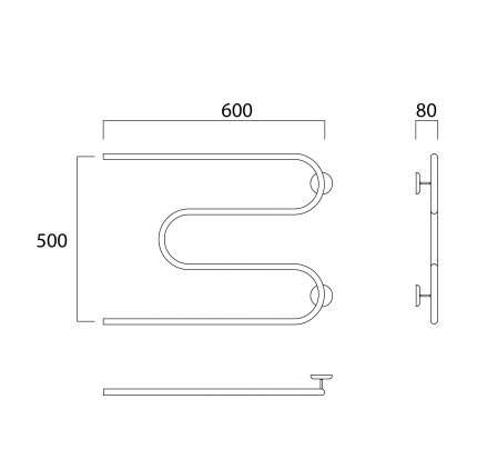 Водяной полотенцесушитель Роснерж М образный M101000 60x70