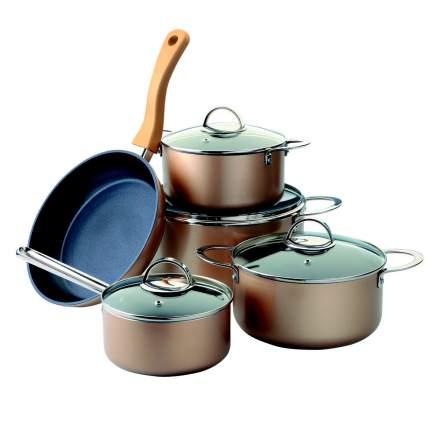 Набор посуды из алюминия с антипригарным покрытием 9 предметов Augustin Welz AW-2202