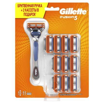 Мужская бритва Gillette Fusion с 11 сменными кассетами