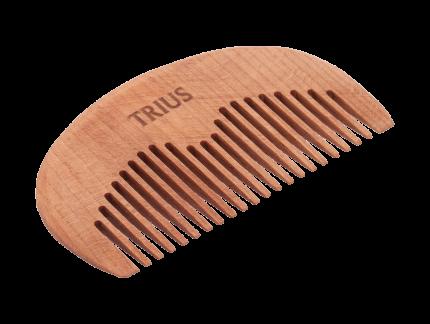 Гребень для бороды Trius Comb №4, темное дерево