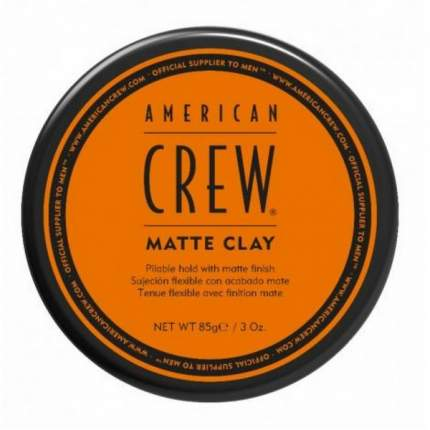 Пластичная матовая глина для укладки волос American Crew AC Matte Clay 85 г