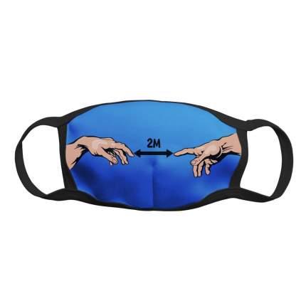 "Многоразовая защитная маска Kawaii Factory KW079-000169 ""Два метра"" черная 1 шт."