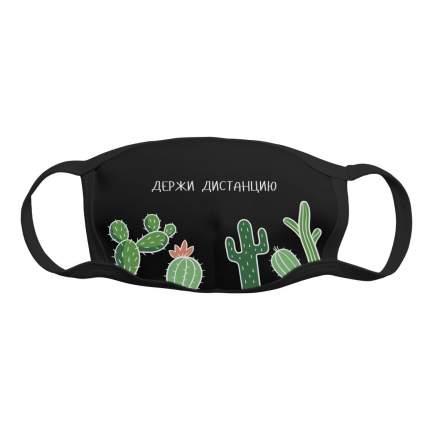 """Многоразовая защитная маска Kawaii Factory KW079-000165 """"Дистанция"""" черная 1 шт."""