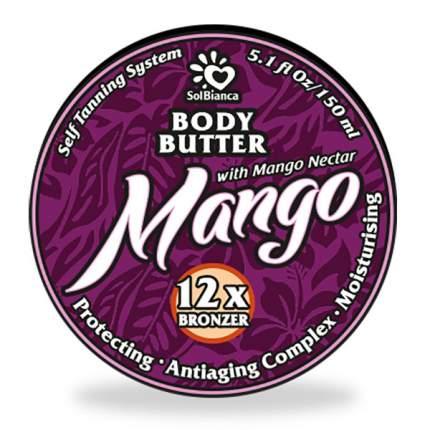 Твердое масло-автозагар SOL BIANCA Body Butter Mango с бронзаторами 150 мл