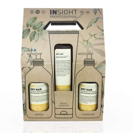 Набор для волос INSIGHT Dry Hair  увлажняющий для сухих волос 400 мл + 400 мл + 250 мл