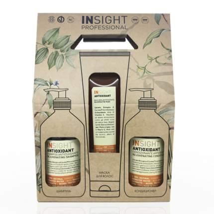 Набор для волос INSIGHT Antioxidant  для перегруженных волос 400 мл + 400 мл + 250 мл