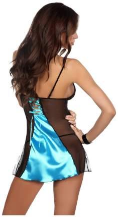 Роскошная сорочка Michele с кружевами голубой с черным L/XL Beauty Night
