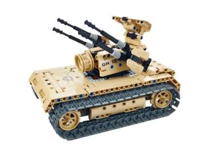 Радиоуправляемый конструктор зенитный танк QiHui Technics 4CH 2.4G 457 деталей