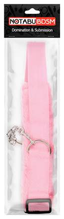 Розовые меховые оковы на регулируемых черных пряжках Bior toys