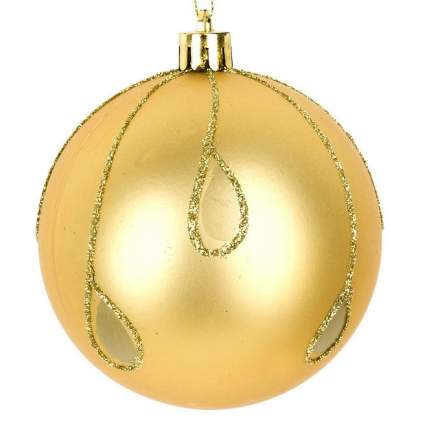 Шар на ель Monte Christmas Золотой шар N6380606 8 см 1 шт.