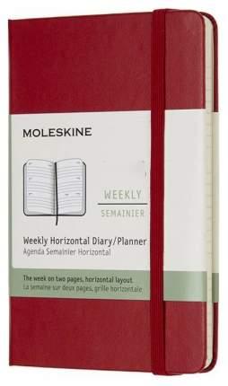 """Еженедельник Moleskine """"Classic WKNT Pocket"""", красный, 144 страницы, 90x140 мм"""
