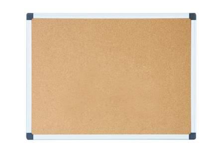 Демонстрационная доска Deli E39054, пробковая, коричневый, 90x120 см
