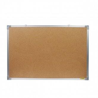 Доска пробковая, с алюминиевой рамой, 90x60 см