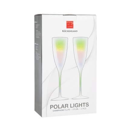 Фужер для шампанского Kuchenland Polar lights RW088-1 2 шт Серебристый