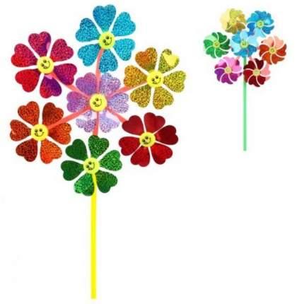 Вертушка голограмма Наша игрушка Цветы 7 в 1 51 см, 6925B